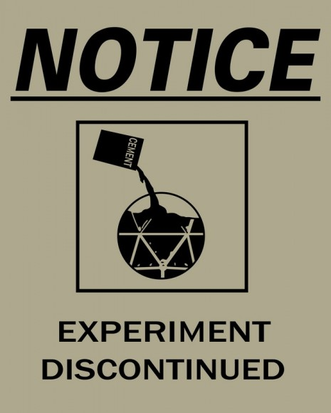 Portal 2 poster: Experiment discontinued notice